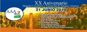 XX-Aniversario Magister Lucentinvs